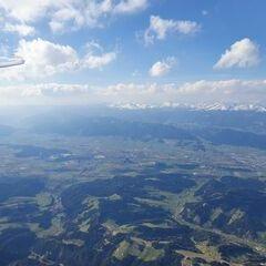 Flugwegposition um 14:55:56: Aufgenommen in der Nähe von Reisstraße, 8741, Österreich in 3134 Meter