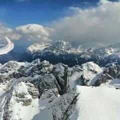 Verortung via Georeferenzierung der Kamera: Aufgenommen in der Nähe von 38032 Canazei, Trentino, Italien in 3600 Meter