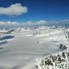 Flugwegposition um 15:37:23: Aufgenommen in der Nähe von 39027 Graun im Vinschgau, Südtirol, Italien in 3634 Meter