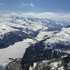 Verortung via Georeferenzierung der Kamera: Aufgenommen in der Nähe von Maloja, Schweiz in 3100 Meter