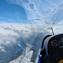 Flugwegposition um 14:13:43: Aufgenommen in der Nähe von Gemeinde Scharnitz, 6108, Österreich in 3408 Meter