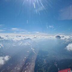 Flugwegposition um 14:24:05: Aufgenommen in der Nähe von Garmisch-Partenkirchen, Deutschland in 3355 Meter