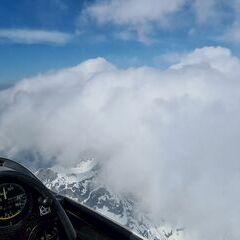 Flugwegposition um 14:07:16: Aufgenommen in der Nähe von Gemeinde Scharnitz, 6108, Österreich in 2995 Meter