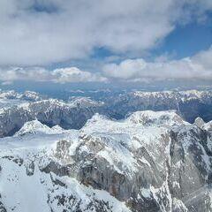 Flugwegposition um 11:55:56: Aufgenommen in der Nähe von Gemeinde Dienten am Hochkönig, Dienten am Hochkönig, Österreich in 3423 Meter
