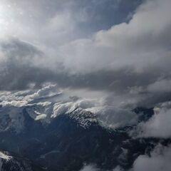 Flugwegposition um 16:00:36: Aufgenommen in der Nähe von Gemeinde Obsteig, Österreich in 3343 Meter