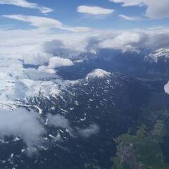 Flugwegposition um 11:28:22: Aufgenommen in der Nähe von Gemeinde Volders, Österreich in 3873 Meter