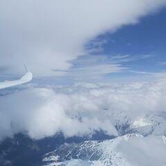 Flugwegposition um 11:33:01: Aufgenommen in der Nähe von Gemeinde Volders, Österreich in 4522 Meter