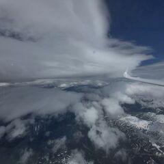 Flugwegposition um 11:36:46: Aufgenommen in der Nähe von Gemeinde Volders, Österreich in 4694 Meter