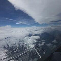 Flugwegposition um 11:39:54: Aufgenommen in der Nähe von Gemeinde Volders, Österreich in 4820 Meter