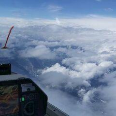 Flugwegposition um 11:57:04: Aufgenommen in der Nähe von Gemeinde Reith bei Seefeld, Österreich in 4580 Meter