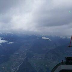 Flugwegposition um 12:28:46: Aufgenommen in der Nähe von Gemeinde Telfs, Telfs, Österreich in 3143 Meter