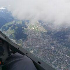Flugwegposition um 12:16:22: Aufgenommen in der Nähe von Gemeinde Ampass, Ampass, Österreich in 3578 Meter