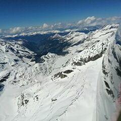 Verortung via Georeferenzierung der Kamera: Aufgenommen in der Nähe von Gemeinde Uttendorf, Österreich in 3400 Meter