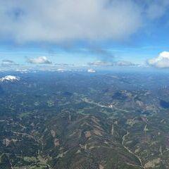 Flugwegposition um 08:54:33: Aufgenommen in der Nähe von Gemeinde Schwarzau im Gebirge, Österreich in 2475 Meter