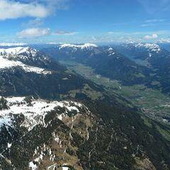 Flugwegposition um 12:16:17: Aufgenommen in der Nähe von Gemeinde Berg im Drautal, Österreich in 2447 Meter