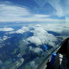 Verortung via Georeferenzierung der Kamera: Aufgenommen in der Nähe von Gemeinde Wattenberg, Österreich in 6300 Meter