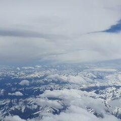 Flugwegposition um 10:39:09: Aufgenommen in der Nähe von Niedernsill, 5722, Österreich in 6300 Meter