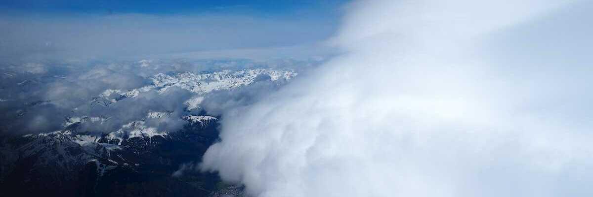 Flugwegposition um 07:40:46: Aufgenommen in der Nähe von Innsbruck, Österreich in 4731 Meter