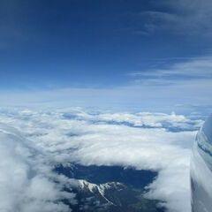 Flugwegposition um 07:29:31: Aufgenommen in der Nähe von Hopfgarten im Brixental, Österreich in 6751 Meter