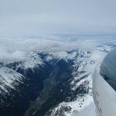 Flugwegposition um 08:34:00: Aufgenommen in der Nähe von Gemeinde Zams, Österreich in 4432 Meter