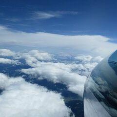 Flugwegposition um 09:39:21: Aufgenommen in der Nähe von Gemeinde Pill, Österreich in 6213 Meter