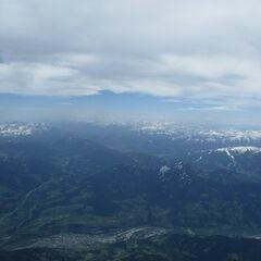 Flugwegposition um 10:20:36: Aufgenommen in der Nähe von Gemeinde Mühlbach am Hochkönig, 5505 Mühlbach am Hochkönig, Österreich in 4034 Meter