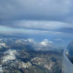 Flugwegposition um 04:54:48: Aufgenommen in der Nähe von Gemeinde Wildalpen, 8924, Österreich in 4305 Meter