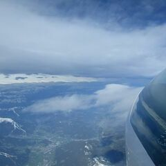 Flugwegposition um 06:26:32: Aufgenommen in der Nähe von Schladming, Österreich in 6281 Meter