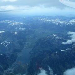 Flugwegposition um 07:12:19: Aufgenommen in der Nähe von Gemeinde Fusch an der Großglocknerstraße, 5672 Fusch an der Großglocknerstraße, Österreich in 6598 Meter