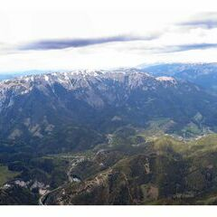 Flugwegposition um 14:42:37: Aufgenommen in der Nähe von Mürzsteg, Österreich in 2046 Meter