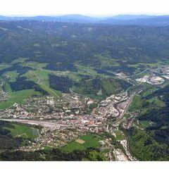 Flugwegposition um 15:14:31: Aufgenommen in der Nähe von Mürzzuschlag, Österreich in 2038 Meter