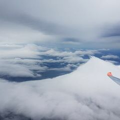 Flugwegposition um 08:38:44: Aufgenommen in der Nähe von Gemeinde Puchberg am Schneeberg, Österreich in 3286 Meter