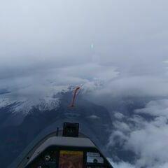 Flugwegposition um 08:06:41: Aufgenommen in der Nähe von Gemeinde Fulpmes, Österreich in 3955 Meter