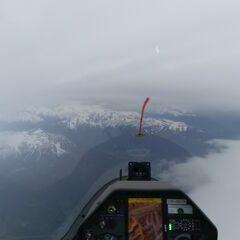 Flugwegposition um 08:27:35: Aufgenommen in der Nähe von Gemeinde Navis, Navis, Österreich in 4038 Meter