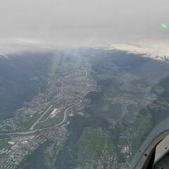 Flugwegposition um 08:35:46: Aufgenommen in der Nähe von Gemeinde Axams, Axams, Österreich in 3229 Meter