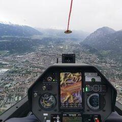 Flugwegposition um 09:13:48: Aufgenommen in der Nähe von Innsbruck, Österreich in 1245 Meter