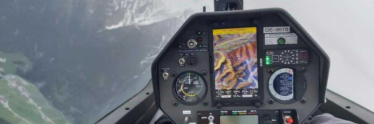 Flugwegposition um 07:51:09: Aufgenommen in der Nähe von Gemeinde Navis, Navis, Österreich in 2795 Meter