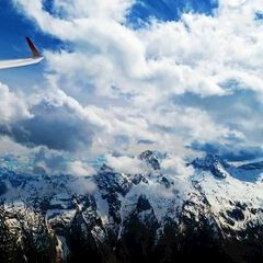 Flugwegposition um 13:41:22: Aufgenommen in der Nähe von Gemeinde Lofer, Lofer, Österreich in 2190 Meter