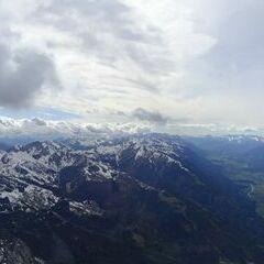 Flugwegposition um 15:02:21: Aufgenommen in der Nähe von Gemeinde Hermagor-Pressegger See, Österreich in 1973 Meter