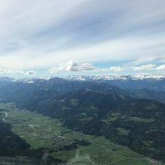 Flugwegposition um 15:08:20: Aufgenommen in der Nähe von Gemeinde Hermagor-Pressegger See, Österreich in 2255 Meter