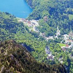 Flugwegposition um 12:53:35: Aufgenommen in der Nähe von Ostallgäu, Deutschland in 2195 Meter