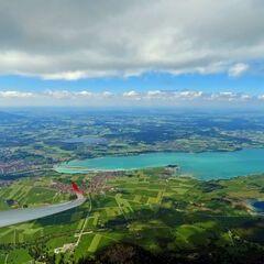 Flugwegposition um 12:53:26: Aufgenommen in der Nähe von Ostallgäu, Deutschland in 2152 Meter