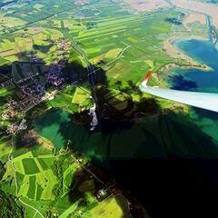 Flugwegposition um 12:30:43: Aufgenommen in der Nähe von Bad Tölz-Wolfratshausen, Deutschland in 2055 Meter