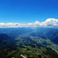 Flugwegposition um 11:46:17: Aufgenommen in der Nähe von Gemeinde Scheffau am Wilden Kaiser, Österreich in 2445 Meter