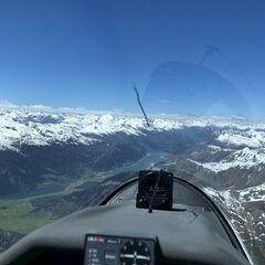 Flugwegposition um 12:39:24: Aufgenommen in der Nähe von 39024 Mals, Südtirol, Italien in 3442 Meter