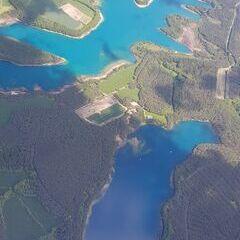 Verortung via Georeferenzierung der Kamera: Aufgenommen in der Nähe von Schwandorf, Deutschland in 1800 Meter