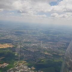Verortung via Georeferenzierung der Kamera: Aufgenommen in der Nähe von Regensburg, Deutschland in 2000 Meter