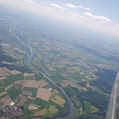 Verortung via Georeferenzierung der Kamera: Aufgenommen in der Nähe von Kelheim, Deutschland in 2200 Meter