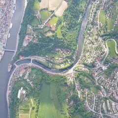 Verortung via Georeferenzierung der Kamera: Aufgenommen in der Nähe von Kreisfreie Stadt Passau, Deutschland in 1900 Meter