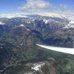 Flugwegposition um 12:40:58: Aufgenommen in der Nähe von Gemeinde Untertilliach, Österreich in 3553 Meter